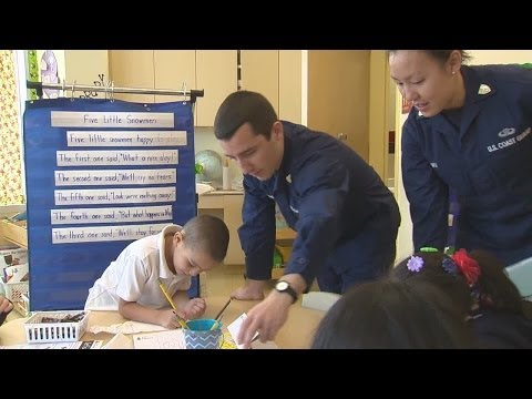 New London Coast Guard Academy cadets teach at New Haven school - 02/04/2014