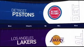Detroit Pistons vs LA Lakers Game Recap | 1/9/19 | NBA