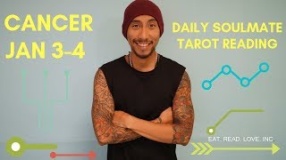 """CANCER DAILY """" TRUE LOVE THE ONE THAT STAYS """" SOULMATE JAN 3-4 TAROT READING"""