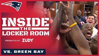 Inside the Locker Room: Patriots celebrate win over Packers