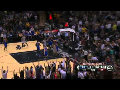 Manu Ginobili Takes Over Game 1 Golden State Warriors vs San Antonio Spurs