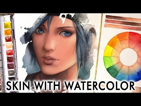【HOW TO COLOR SKIN】 Watercolor Tutorial