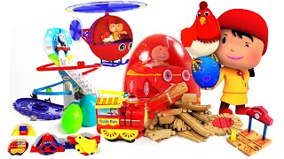 Color eggs surprise | wooden chu chu train | helicopter rc | thomas train for children