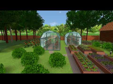 Ландшафтный дизайн (визуализация проекта участка)