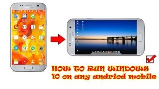 how to Run windows 10 on android phone || PC Emulator for Android Phone