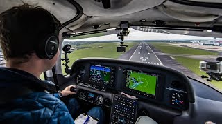 Flying A Full Visual Circuit At Manchester International EGCC | ATC Audio