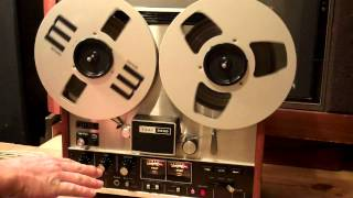 TEAC 3300 Record, Playback Rewind and Fast Forward Demo.- ZCUCKOO