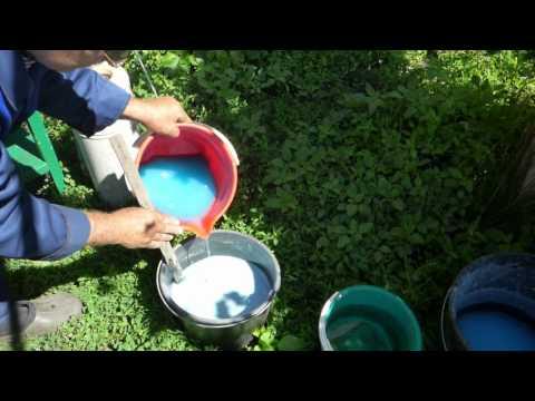 Приготовление Бордосской жидкости.