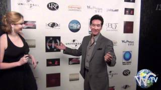 Peter Kwong on the red carpet Pearl Records New Years Eve Party