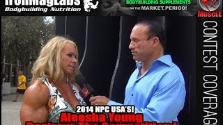 Aleesha Young After Winning Overall Women's Bodybuilding At The 2014 NPC USA Championships!