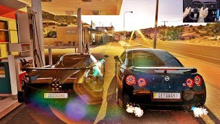 Download FORZA HORIZON 3 GOPRO - RACHA DE NISSAN GT-R R35 VS PAGANI HUAYRA BC - VOLANTE G27 3Gp Mp4