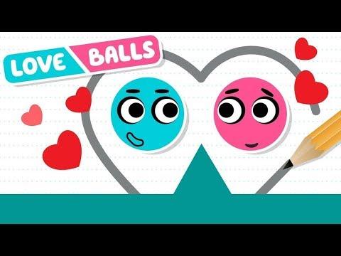 Влюблённые Шарики Love Balls #1 Няшная головоломка про два милых шарика (уровни 1-36) Let's Play
