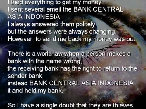 WORLD BANK FRAUD OF THIEVES BY BANK CENTRAL ASIA INDONESIA