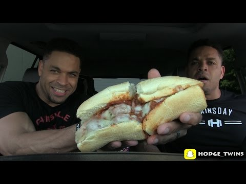 Eating Best Meatball Sandwich Ever | Jerry's ITALIAN MEATBALL SUB | Food Review @Hodgetwins