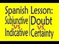 Spanish Lesson: Subjunctive vs Indicative (Doubt vs. Certainty)