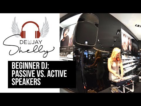 How to Be a DJ: Self Powered (Active) vs Regular Speakers (Passive) female DJ DeeJay Shelly