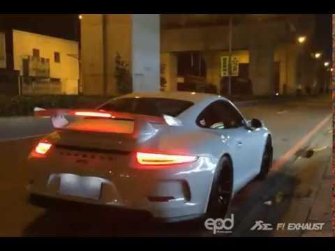 Porsche 991 GT3 X Fi Exhaust Insane Super Loud sound !!!