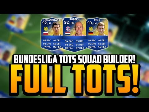 FULL BUNDESLIGA TOTS SQUAD BUILDER! w/ TOTS ROBBEN, LEWANDOWSKI! OMG!! | FIFA 14 Ultimate Team