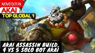 Akai Assassin Build, 4 VS 5 Solo Bot Akai [Top Global 1 Akai] | xεvεησυs Akai Mobile Legends