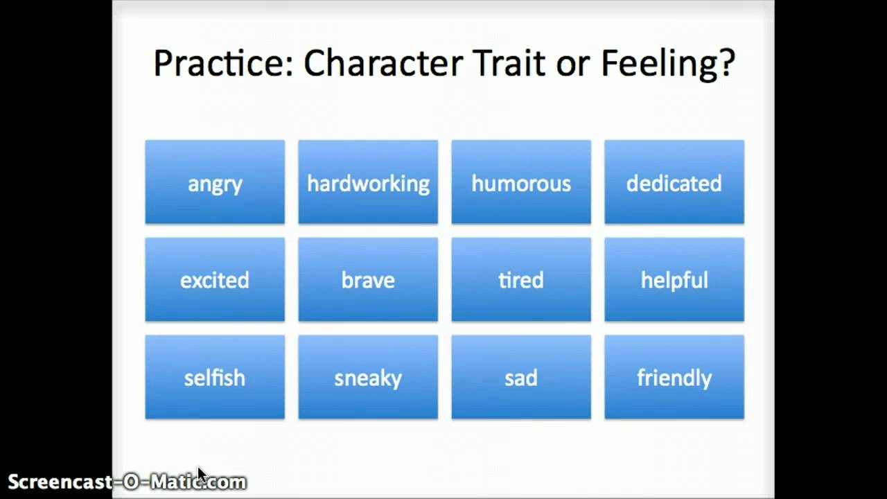 Character Trait Powerpoint Edtc640 Character Traits