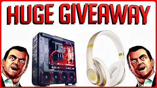 HUGE GIVEAWAY!!! GIVING OUT A CUSTOM GAMING PC & GOLD BEATS BY DRE HEADPHONES!