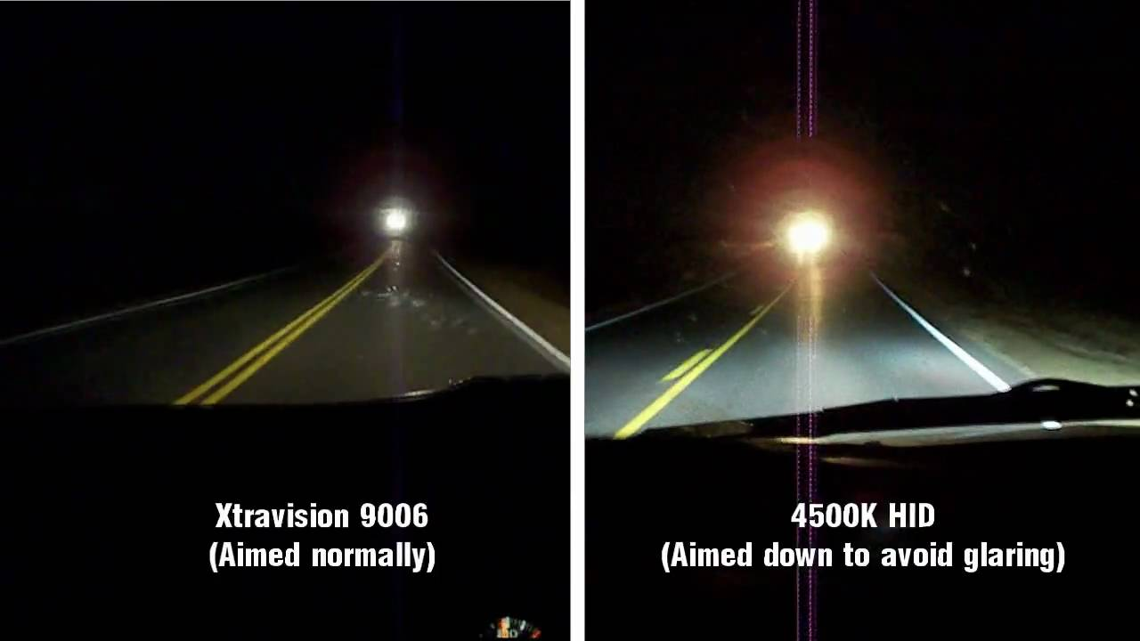 Apexcone 4500k Hid Bulbs Vs Halogen Bulbs In 2000 S 10