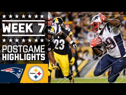 Patriots vs. Steelers | NFL Week 7 Game Highlights
