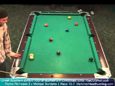 Billiards Match Richie Richeson vs Michael Burdette