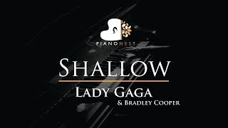 Lady Gaga Bradley Cooper Shallow Piano Karaoke Sing Along