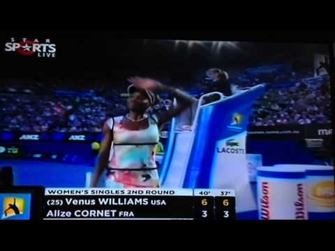 Venus Williams vs A.Cornet-Australian Open 2013 Second round-Match Point
