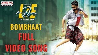 Bombhaat Full Video Song Lie Video Songs Nithiin Megha Akash Mani Sharma
