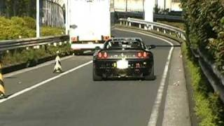 F355 exhaust black