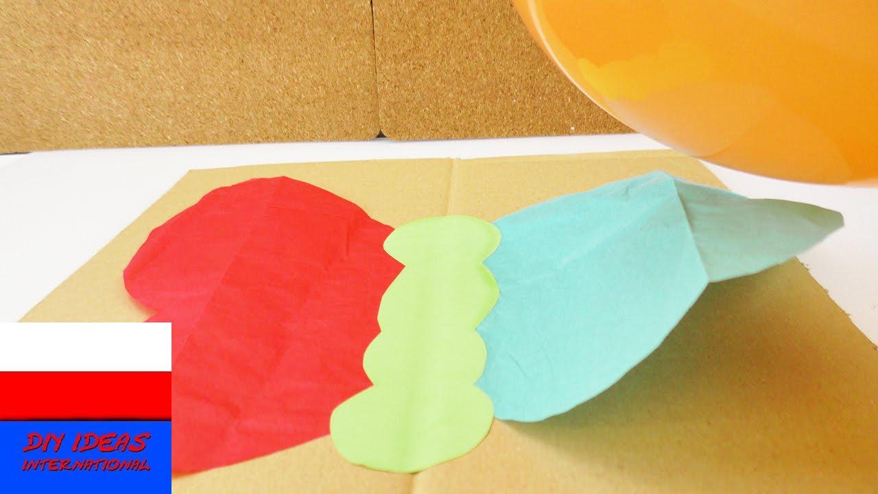 Eksperyment z naelektryzowanym balonem | Motylek z bibułu macha skrzydłami | sztuczka