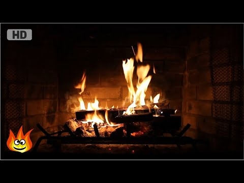 Burning Fireplace With Crackling Fire Sounds Full HD