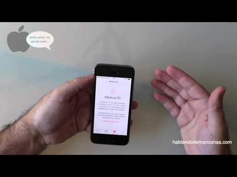 iOS8 Aplicación Health Salud en un iPhone 5S  En Español