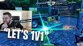 COURAGE PRETENDS TO BE A GIRL IN RANDOM DUOS! I GOT CHALLENGED TO A 1V1! (Fortnite: Battle Royale)
