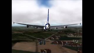 X-Plane 8 Airbus 380 Landing