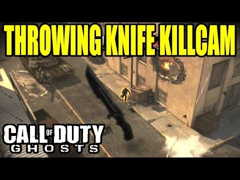 Throwing knife killcam | Trickshot, Bankshot and Across map | Call of duty ghosts