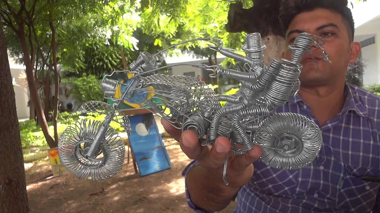 Loja De Materiais Para Artesanato Zona Norte Sp ~ Artesanato com ARAME Como fazer motos, bateria, guitarra