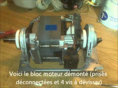 Changer les charbons d 39 un moteur de machine laver youtube - Combien coute un lavage en machine ...