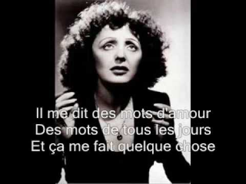 Edith Piaf -La vie en rose with lyrics Music Videos