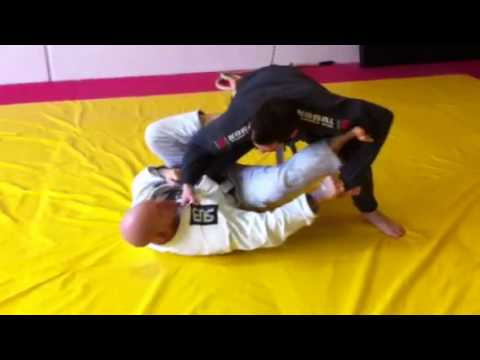 Single leg-x guard sweep Image 1