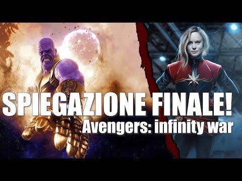 SPIEGAZIONE FINALE AVENGERS INFINITY WAR [scena post-credit | Captain Marvel] en streaming