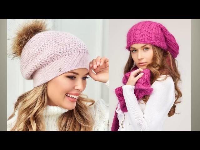 Модные вязаные шапки - видео журнал. Вязание спицами и крючком. Рукоделие. DIY