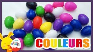 Compétition des couleurs - Oeufs surprises pour apprendre les couleurs - Titounis