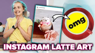 Baristas Try To Recreate Instagram Latte Art