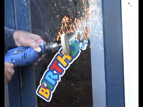 Remove Decal Stickers And Vinyl Letters From Glass Or