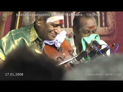 Kunnakudi Vaidhyanathan = 05. Samajavaragamana = Shanmukhanandha Sangeetha Sabha Tirupur