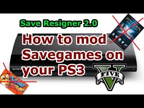How to MOD Savegames on PS3 - Save Resigner 2.0 - Full Tutorial [HD]