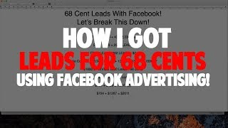 Download 2,592 Leads From Facebook Marketing For 68 Cents Each! 3Gp Mp4
